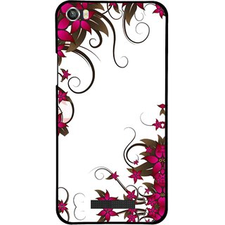 Snooky Printed Flower Creep Mobile Back Cover For Lava Iris X8 - Multi