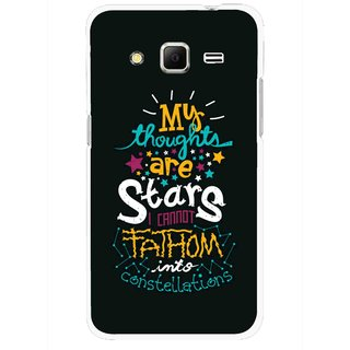 Snooky Printed Thoughts Are Stars Mobile Back Cover For Samsung Galaxy Core Prime - Black