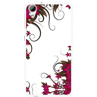 Snooky Printed Flower Creep Mobile Back Cover For HTC Desire 626 - Multi
