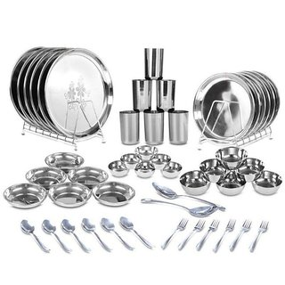 Classic Essentials Stainless Steel Dinner Set of 50 Pieces