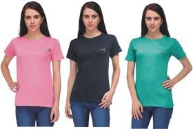 AdiRattan 3 Cotton T-Shirt Combo for Girls / Women