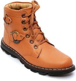 Baton Men's High Ankle Tan Boot