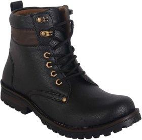 Baton Men's Black Lace-up Boots