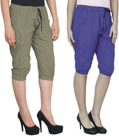 AdiRattan Popular Cotton Capri Combo for Girls/Women