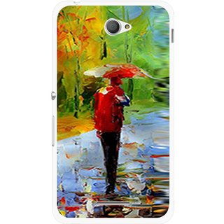 Snooky Printed Painting Mobile Back Cover For Sony Xperia E4 - Multi