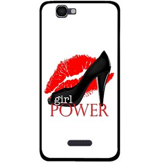 Snooky Printed Girl Power Mobile Back Cover For Micromax Canvas 2 A120 - Multi