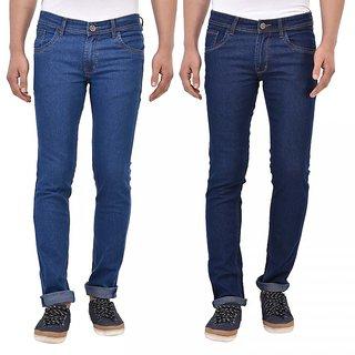 Stylox Pack of 2 Men's Blue Slim Fit Jeans