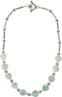 Pearlz Ocean Elegant Me 18 Green Amazonite Gemstone Beads Necklace