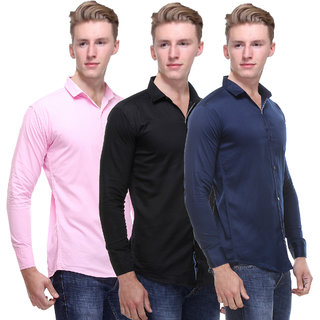 Red Code Multicolor Full Sleeves Casual Shirts For Men (Pack Of 3)