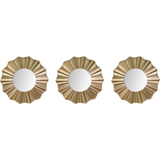 Hosley Set of 3 Decorative Gold Wall Mirror