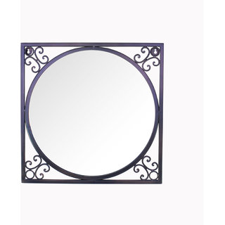 Hosley 18In Square Antique Bronze Wall Mirror