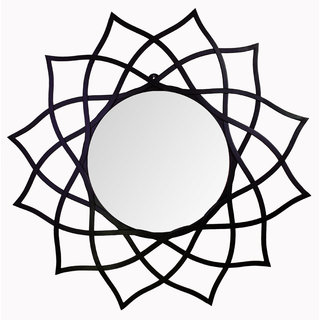 Hosley 28.54In Flower Shape Black Wall Mirror