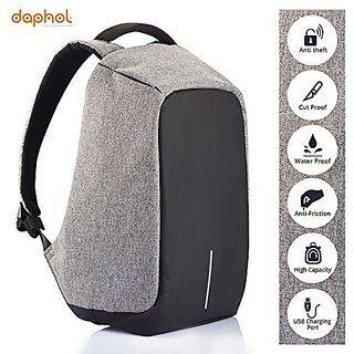 fe879e450e4d Buy Anti Theft Laptop Backpack Bag for Men with USB Charging Port  Anti-Theft Water Resistant Travel Backpack Suitable For Laptop Camera  College Bag - Grey ...