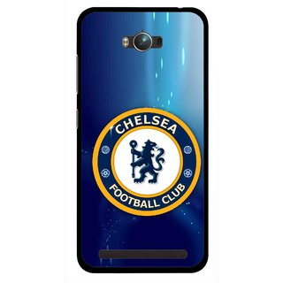 Snooky Printed Football Club Mobile Back Cover For Asus Zenfone Max - Multicolour