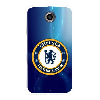 Snooky Printed Football Club Mobile Back Cover For Motorola Nexus 6 - Multicolour
