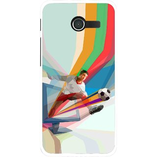 Snooky Printed Kick FootBall Mobile Back Cover For Asus Zenfone 4 - Multi