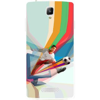 Snooky Printed Kick FootBall Mobile Back Cover For Oppo Neo 3 R831k - Multi