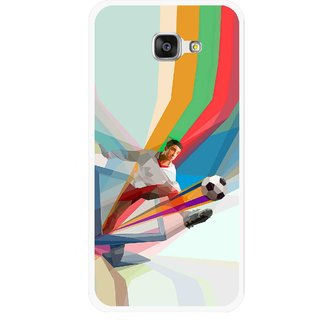 Snooky Printed Kick FootBall Mobile Back Cover For Samsung Galaxy A7 2016 - Multi