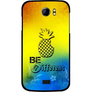 Snooky Printed Be Different Mobile Back Cover For Micromax Canvas 2 A110 - Multi