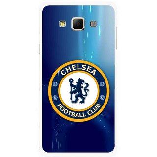 Snooky Printed Football Club Mobile Back Cover For Samsung Galaxy E5 - Multicolour