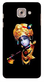 Snooky Printed God Krishna Mobile Back Cover For Samsung Galaxy J7 Max - Black