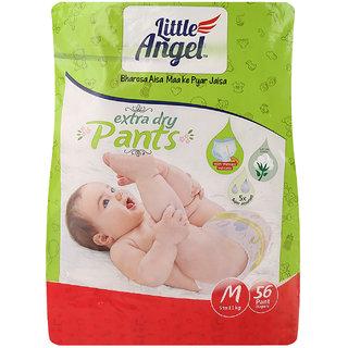 Little Angel Baby Diaper 56Pcs - M