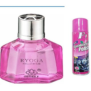 love4ride Combo of Car Dashboard Spray with Ryoga Car Dashboard Perfume