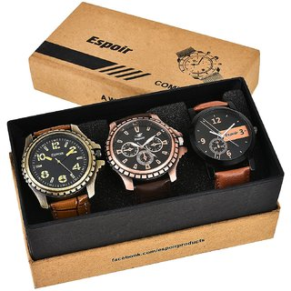 Espoir Combo of 3 Cool Blk Kranti Analogue Multicolor Dial Mens Watches-Combo Cool Blk Kranti