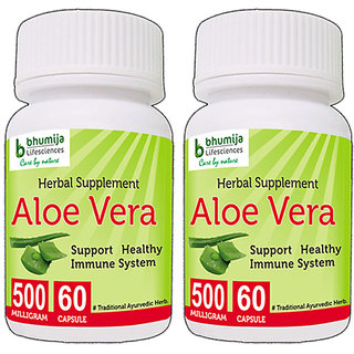 ALOEVERA CAPSULES 60's (COMBO PACK OF TWO)