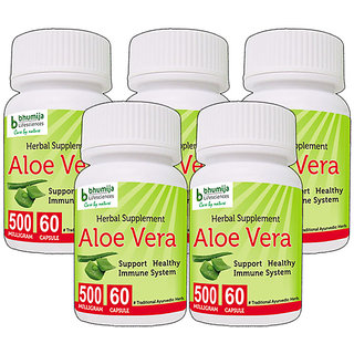 ALOEVERA CAPSULES 60's (COMBO PACK OF FIVE)