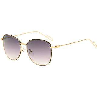 Royal Son Black UV Protection Square Women Sunglasses