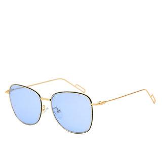 Royal Son Blue UV Protection Square Women Sunglasses
