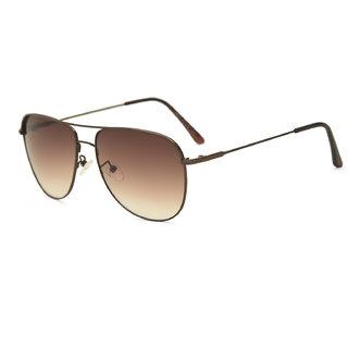 Royal Son Brown UV Protection Square Men Sunglasses
