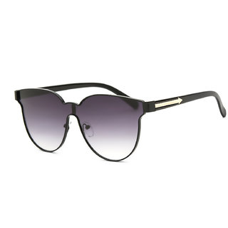 Royal Son Black UV Protection Round Women Sunglasses