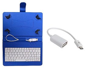 7inch Keyboard iBall Slide 7236 2G Tablet - Blue with OTG Cable by Sanvi Enterprises