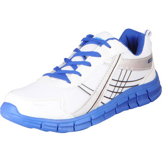 Sparx Mens White Blue Sports Running Shoes