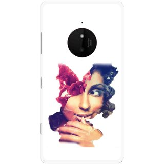 Snooky Printed Vintage Girl Mobile Back Cover For Microsoft Lumia 830 - Multi