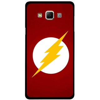 Snooky Printed High Voltage Mobile Back Cover For Samsung Galaxy E5 - Red