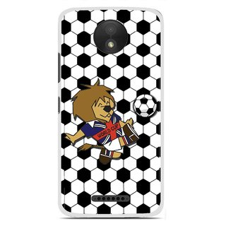 Snooky Printed Football Cup Mobile Back Cover For Motorola Moto C Plus - Multi