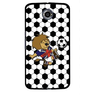 Snooky Printed Football Cup Mobile Back Cover For Motorola Nexus 6 - Multi