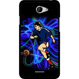 Snooky Printed Football Passion Mobile Back Cover For HTC Desire 516 - Multicolour