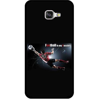 Snooky Printed Football Passion Mobile Back Cover For Samsung Galaxy A3 (2016) - Black