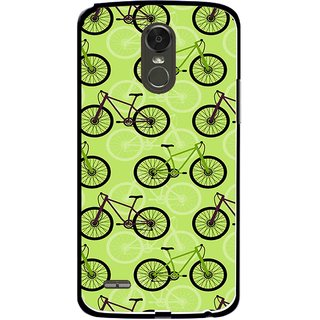 Snooky Printed Cycle Mobile Back Cover For Lg Stylus 3 - Green