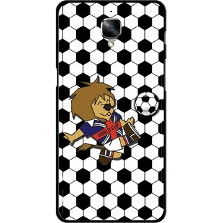 Snooky Printed Football Cup Mobile Back Cover For OnePlus 3 - Multi
