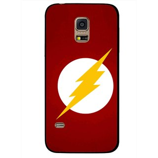 Snooky Printed High Voltage Mobile Back Cover For Samsung Galaxy S5 Mini - Red