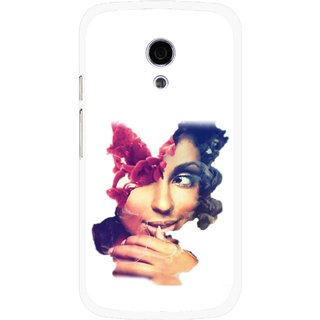 Snooky Printed Vintage Girl Mobile Back Cover For Moto G2 - Multi
