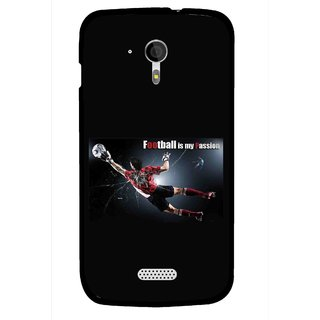 Snooky Printed Football Passion Mobile Back Cover For Micromax A116 - Black