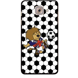Snooky Printed Football Cup Mobile Back Cover For Samsung Galaxy J7 Max - Multi