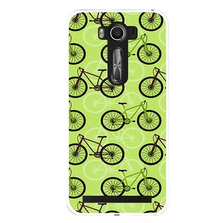 Snooky Printed Cycle Mobile Back Cover For Asus Zenfone 2 Laser ZE500KL - Green