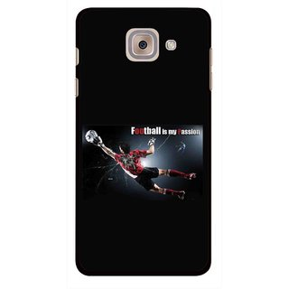 Snooky Printed Football Passion Mobile Back Cover For Samsung Galaxy J7 Max - Black